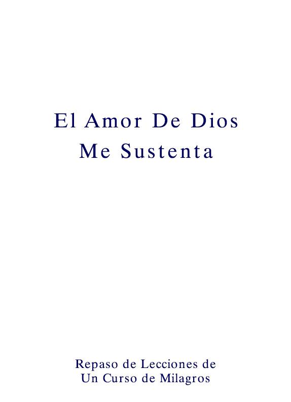 El Amor De Dios Me Sustenta