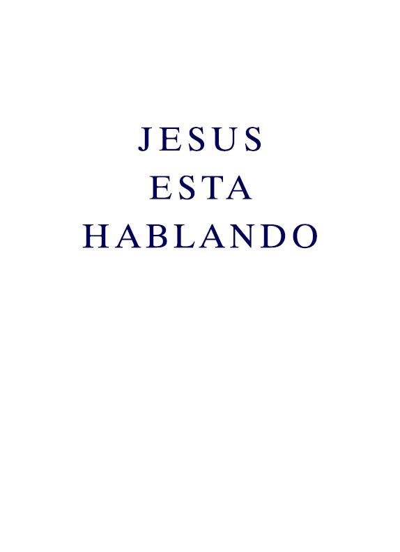 Jesus esta Hablando