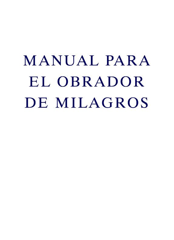 Manual para El Obrador de Milagros