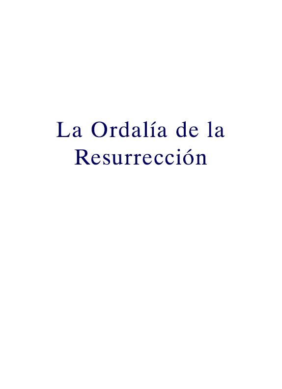 La Ordalía de la Resurrección