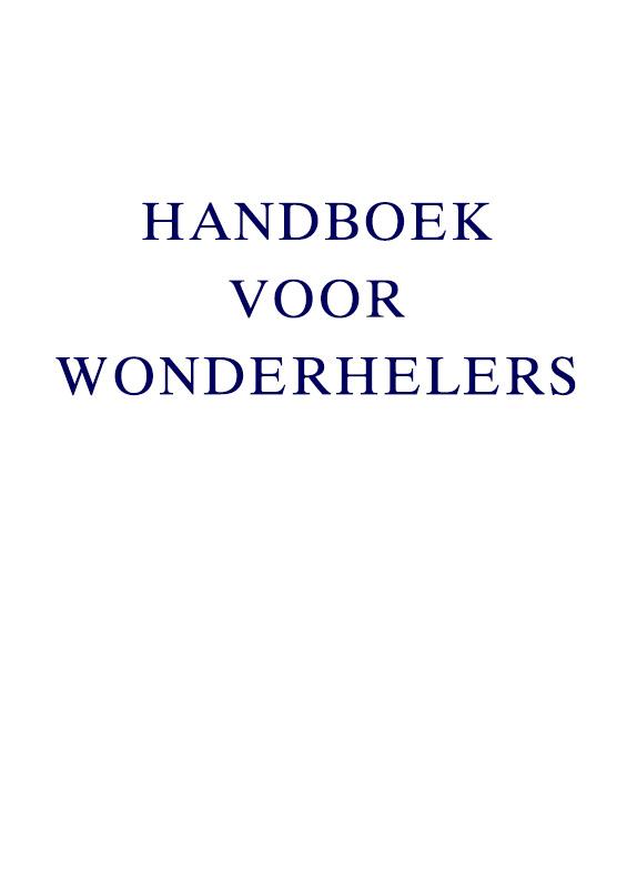 Handboek voor Wonderhelers
